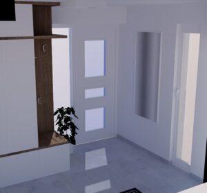 Pohled na vchodové dveře